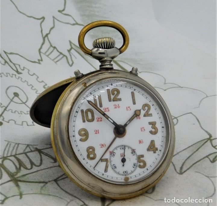 JUNGHANS-CON ALARMA-RELOJ DE BOLSILLO-CIRCA 1900-1925-FUNCIONANDO (Relojes - Bolsillo Carga Manual)