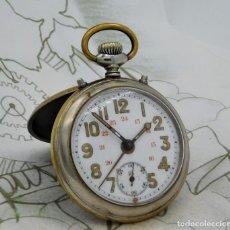Relojes de bolsillo: JUNGHANS-CON ALARMA-RELOJ DE BOLSILLO-CIRCA 1900-1925-FUNCIONANDO. Lote 194589683