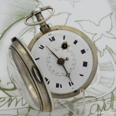 Relojes de bolsillo: MUY RARO-IMPRESIONANTE RELOJ DE BOLSILLO CON CALENDARIO-DE PLATA-CATALINO-SIGLO XVIII-FUNCIONANDO. Lote 194629906