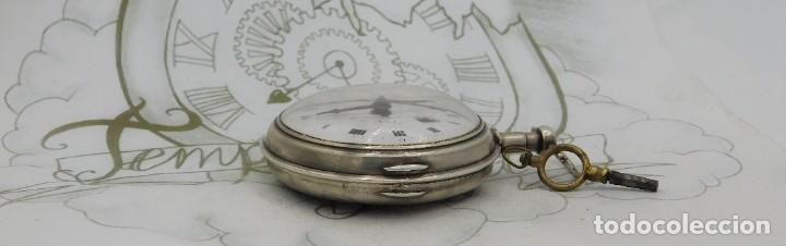 Relojes de bolsillo: MUY RARO-IMPRESIONANTE RELOJ DE BOLSILLO CON CALENDARIO-DE PLATA-CATALINO-SIGLO XVIII-FUNCIONANDO - Foto 10 - 194629906