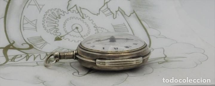 Relojes de bolsillo: MUY RARO-IMPRESIONANTE RELOJ DE BOLSILLO CON CALENDARIO-DE PLATA-CATALINO-SIGLO XVIII-FUNCIONANDO - Foto 11 - 194629906
