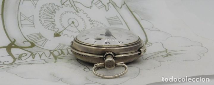 Relojes de bolsillo: MUY RARO-IMPRESIONANTE RELOJ DE BOLSILLO CON CALENDARIO-DE PLATA-CATALINO-SIGLO XVIII-FUNCIONANDO - Foto 12 - 194629906