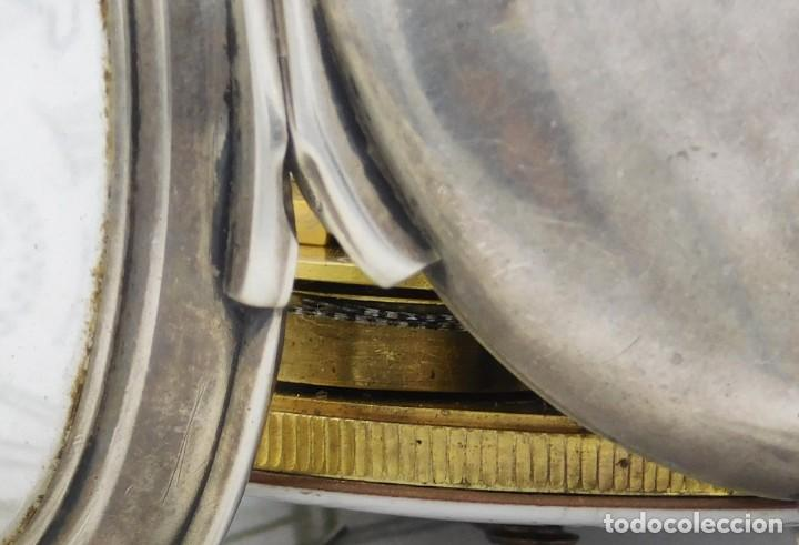 Relojes de bolsillo: MUY RARO-IMPRESIONANTE RELOJ DE BOLSILLO CON CALENDARIO-DE PLATA-CATALINO-SIGLO XVIII-FUNCIONANDO - Foto 16 - 194629906