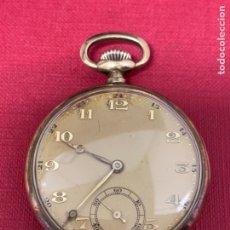 Relojes de bolsillo: PRECIOSO RELOJ DE BOLSILLO DE ORO SOBRE PLATA. Lote 194676385