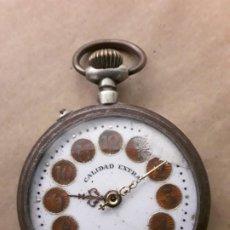 Relojes de bolsillo: RELOJ DE BOLSILLO ANTIGUO CALIDAD EXTRA. Lote 194716910