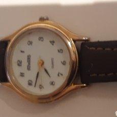 Relojes de bolsillo: DUWARD SEÑORA ANTIGUO PULSERA PIEL VACUNO. Lote 194726826