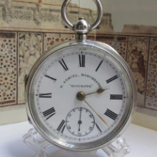 Relojes de bolsillo: H SAMUEL RELOJ SIGLO XIX , PLATA STERLING. Lote 194752023
