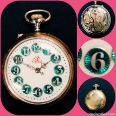 Relojes de bolsillo: RELOJ BOLSILLO ESFERA RICA ESMALTES, FF S XIX, FUNCIONANDO. Lote 194769295