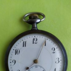 Relojes de bolsillo: ANTIGUO RELOJ DE BOLSILLO SIGLO XIX BUEN TAMAÑO FUNCIONA. Lote 194770210