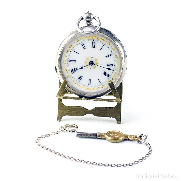 Relojes de bolsillo: Reloj Suizo de colgar, unisex, lepine. Suiza, ca. 1900. - Foto 2 - 194788647