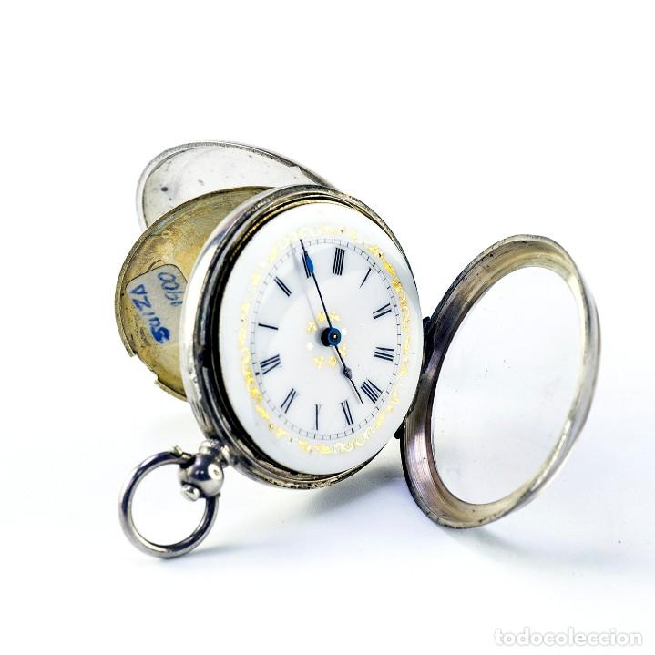 Relojes de bolsillo: Reloj Suizo de colgar, unisex, lepine. Suiza, ca. 1900. - Foto 3 - 194788647