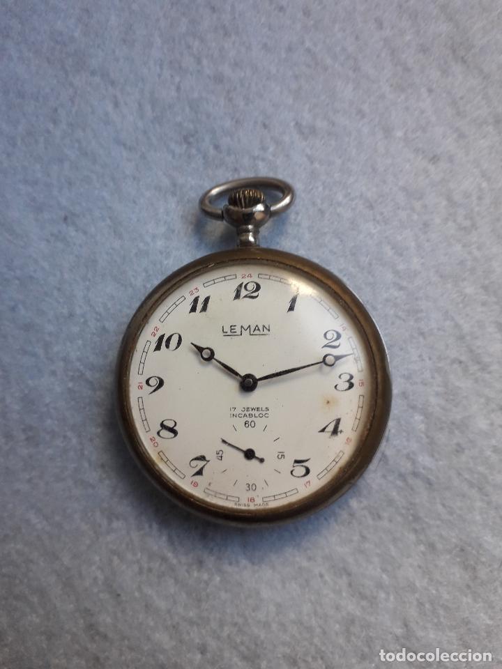 Relojes de bolsillo: Reloj de bolsillo antiguo marca Leman. Swiss made. - Foto 3 - 194878698