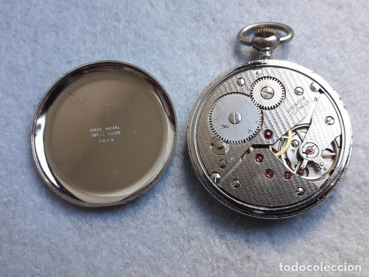 Relojes de bolsillo: Reloj de bolsillo antiguo marca Leman. Swiss made. - Foto 4 - 194878698