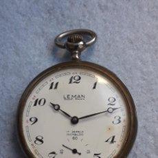 Relojes de bolsillo: RELOJ DE BOLSILLO ANTIGUO MARCA LEMAN. SWISS MADE.. Lote 194878698