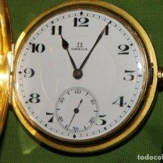 Relojes de bolsillo: OMEGA BOLSILLO SABONETA 1912 ORO 18K. Lote 194885598