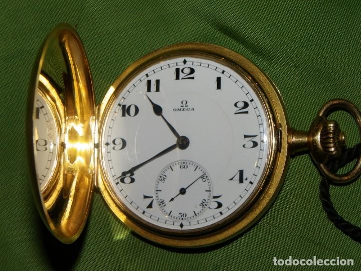 Relojes de bolsillo: Omega bolsillo saboneta 1912 oro 18K - Foto 4 - 194885598