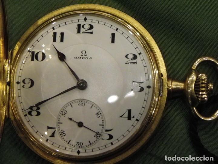 Relojes de bolsillo: Omega bolsillo saboneta 1912 oro 18K - Foto 5 - 194885598