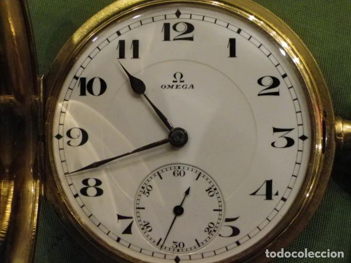 Relojes de bolsillo: Omega bolsillo saboneta 1912 oro 18K - Foto 6 - 194885598