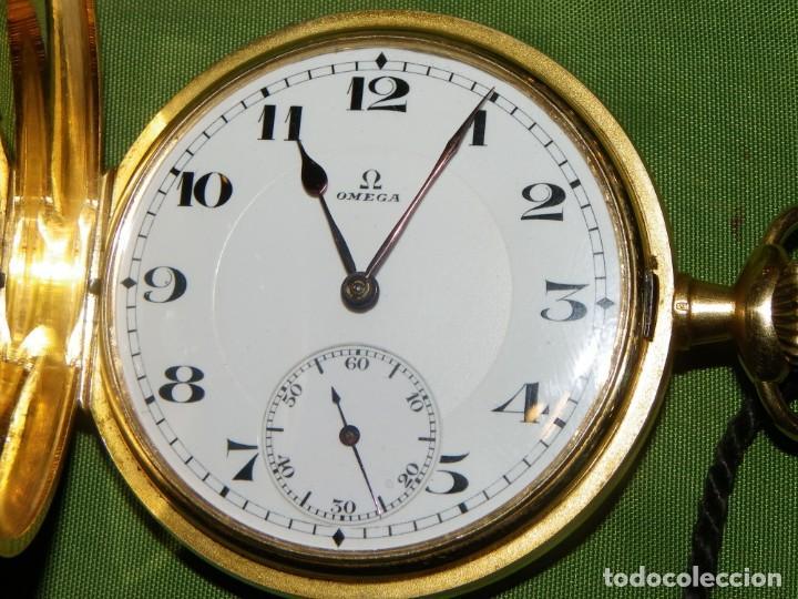 Relojes de bolsillo: Omega bolsillo saboneta 1912 oro 18K - Foto 7 - 194885598