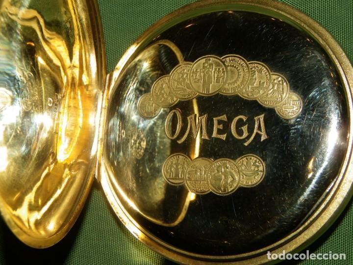 Relojes de bolsillo: Omega bolsillo saboneta 1912 oro 18K - Foto 8 - 194885598