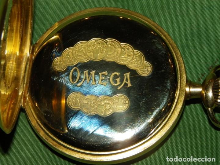 Relojes de bolsillo: Omega bolsillo saboneta 1912 oro 18K - Foto 9 - 194885598