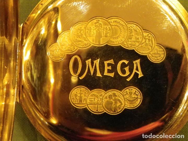 Relojes de bolsillo: Omega bolsillo saboneta 1912 oro 18K - Foto 10 - 194885598
