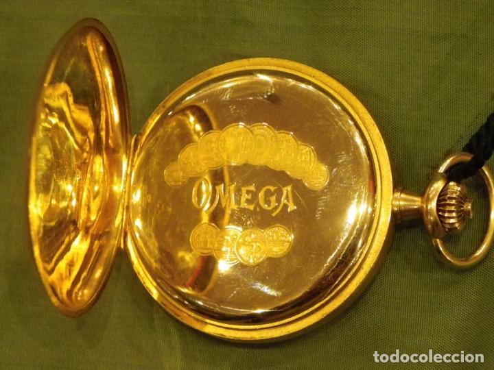 Relojes de bolsillo: Omega bolsillo saboneta 1912 oro 18K - Foto 11 - 194885598