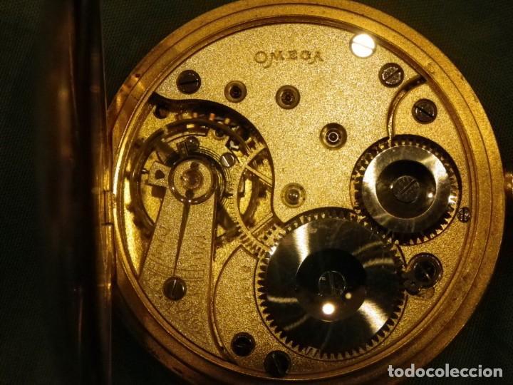 Relojes de bolsillo: Omega bolsillo saboneta 1912 oro 18K - Foto 12 - 194885598