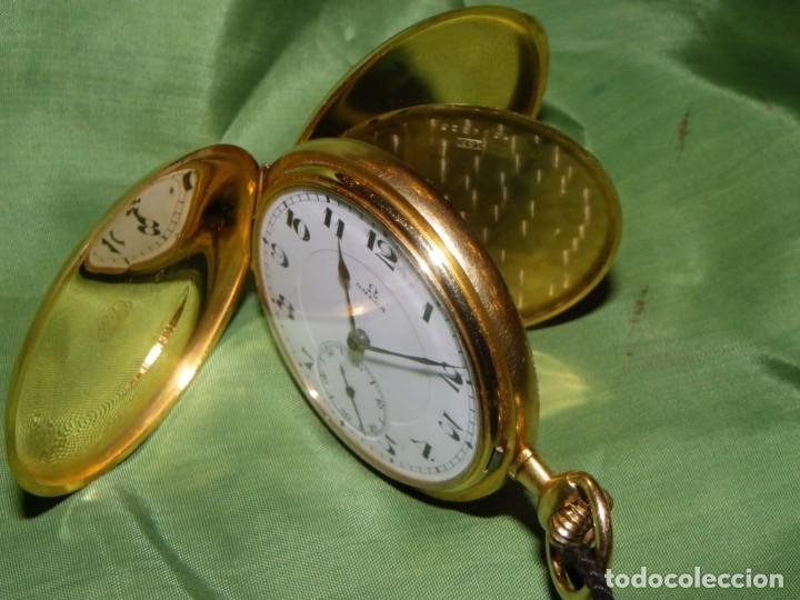 Relojes de bolsillo: Omega bolsillo saboneta 1912 oro 18K - Foto 18 - 194885598