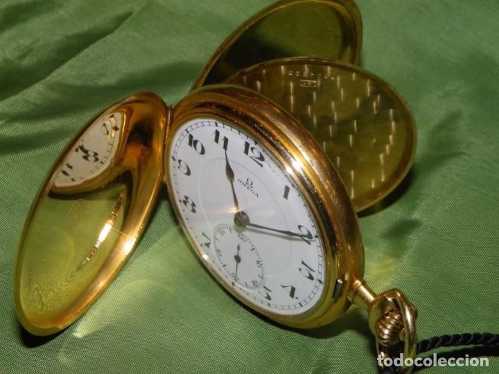 Relojes de bolsillo: Omega bolsillo saboneta 1912 oro 18K - Foto 22 - 194885598