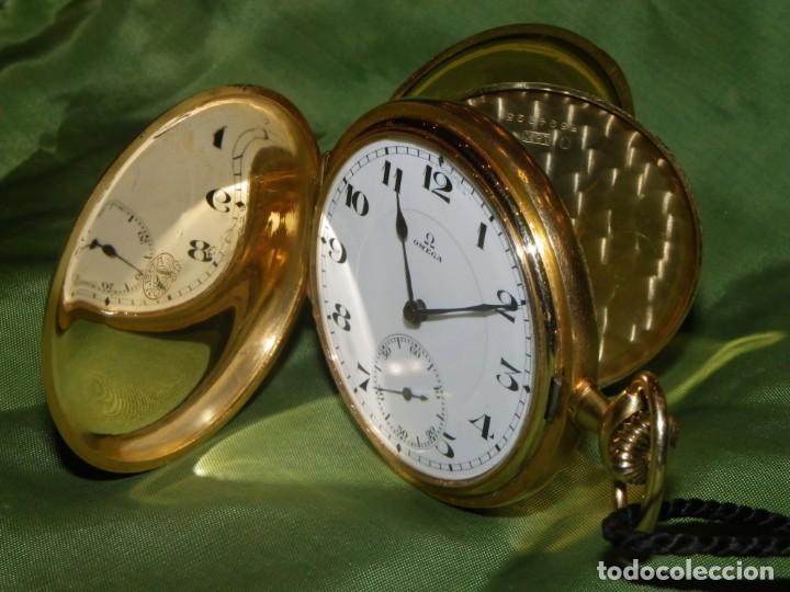Relojes de bolsillo: Omega bolsillo saboneta 1912 oro 18K - Foto 23 - 194885598