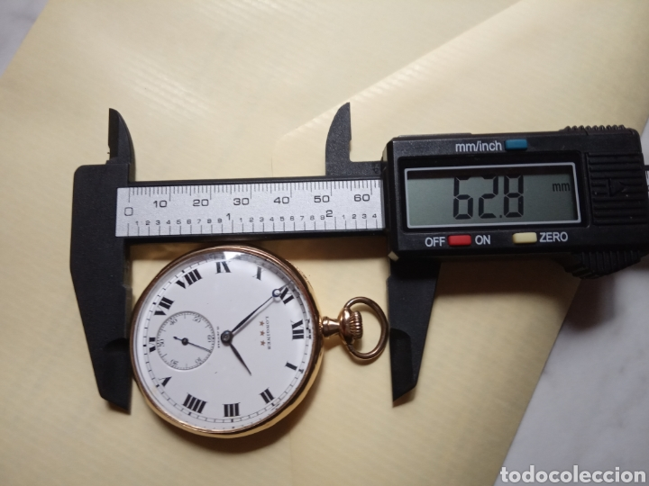 Relojes de bolsillo: Longines vintage 70 gramos oro 18k - Foto 7 - 194892405