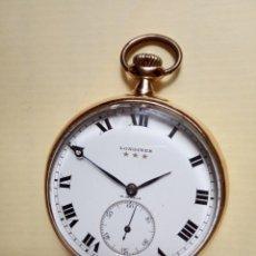 Relojes de bolsillo: LONGINES VINTAGE 70 GRAMOS ORO 18K. Lote 194892405