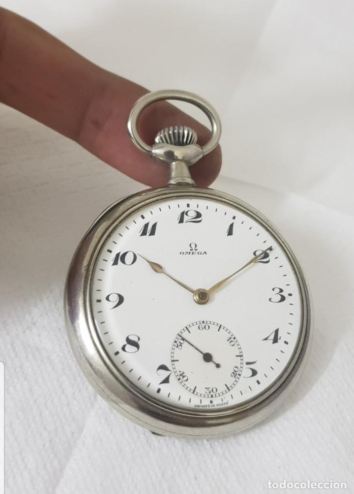 RELOJ ANTIGUO DE BOLSILLO OMEGA CASI A ESTRENAR FUNCIONA ALTA COLECCIÓN (Relojes - Bolsillo Carga Manual)
