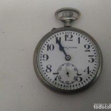 Relojes de bolsillo: RELOJ DE BOLSILLO MARCA FAMOSO PATENT.. Lote 194921617