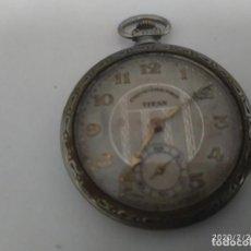 Relojes de bolsillo: RELOJ DE BOLSILLO MARCA TITANT.CREO QUE DE PLATA.. Lote 194922096