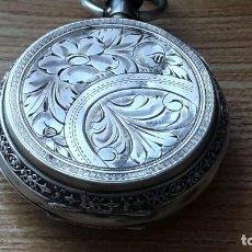 Relojes de bolsillo: RELOJ DE PLATA TRES TAPAS,52 MM,5 RUBIS,REMONTOIR GENEVE.NECESITA ENGRASAR Y LIMPIAR NO FUNCIONA. Lote 194931231