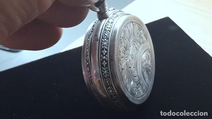 Relojes de bolsillo: RELOJ DE PLATA TRES TAPAS,52 MM,5 RUBIS,REMONTOIR GENEVE.necesita engrasar y limpiar no funciona - Foto 7 - 194931231