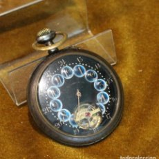 Relojes de bolsillo: RELOJ DE BOLSILLO,CARGA MANUAL,MARCA BONHEURE,FUNCIONA, FALTA MANECILLA DE LAS HORAS. Lote 194953471