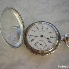 Relojes de bolsillo: RELOJ DE BOLSILLO OMEGA DE PLATA MACIZA AÑO 1915. Lote 195023701