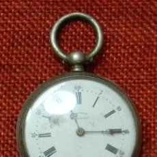 Relojes de bolsillo: PLATA - ANTIGUO RELOJ LEPINE MARCA LÉO TURLAY - A. MIRAMELAU - 38 MM DIAMETRO - 50 GR. SIGLO XIX. Lote 195030815