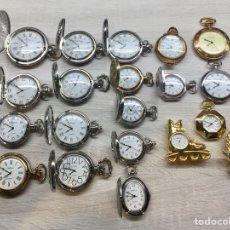 Relojes de bolsillo: LOTE RELOJ DE BOLSILLO Y MESA QUARTZ. Lote 195038910