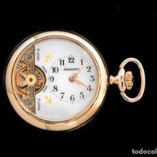 Relojes de bolsillo: MAGNIFICO RELOJ DE BOLSILLO HEBDOMAS DE ORIGEN SUIZO,CUERDA 8 DIAS. Lote 195039456