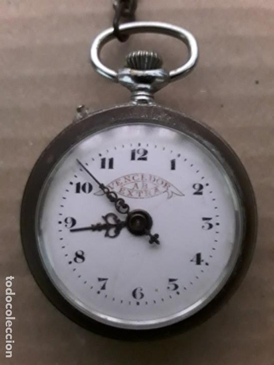 RELOJ DE BOLSILLO ANTIGUO VENCEDOR EXTRA (Relojes - Bolsillo Carga Manual)