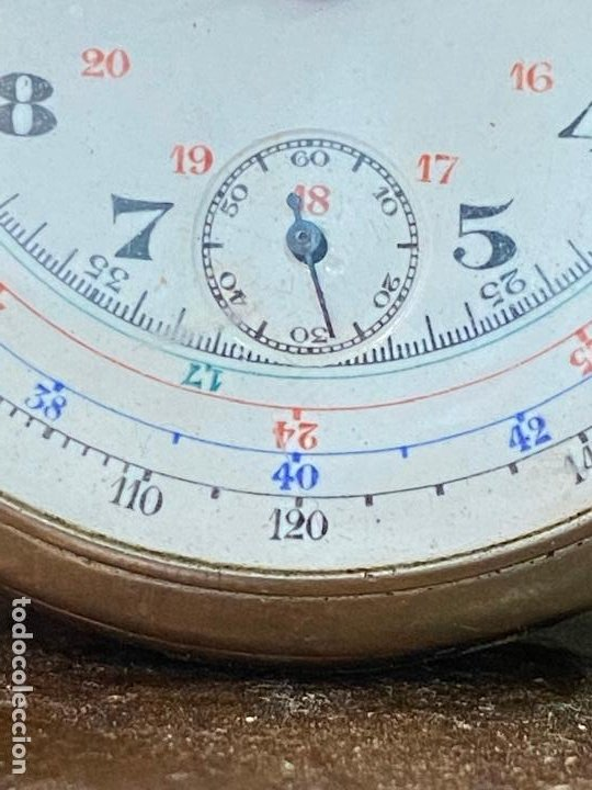 Relojes de bolsillo: Antiguo cronografo o cronometro tacometro LIP - PRincipios de siglo XX - Foto 2 - 195051130