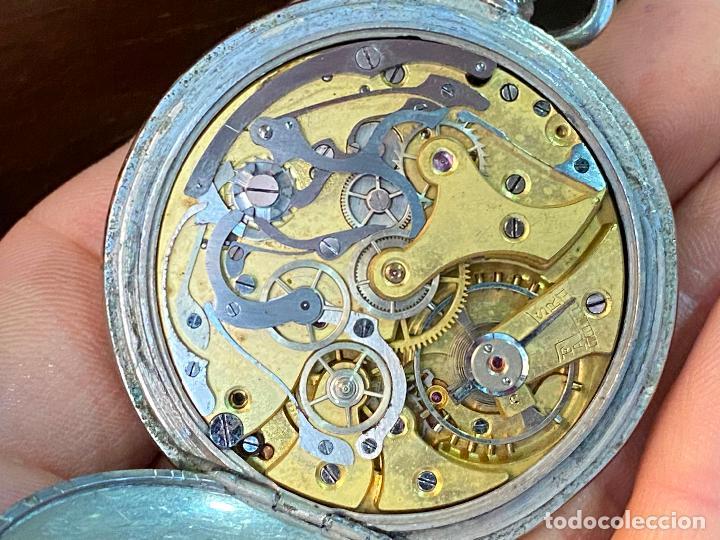 Relojes de bolsillo: Antiguo cronografo o cronometro tacometro LIP - PRincipios de siglo XX - Foto 10 - 195051130