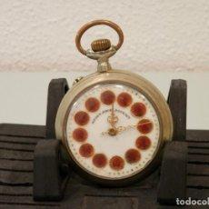 Relojes de bolsillo: ANTIGUO RELOJ DE BOLSILLO, REGULADOR PATENT, 52 MM, ESFERA ESMALTES, SISTEMA ROSKOPF, FUNCIONANDO. Lote 195058366