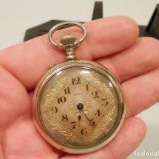 Relojes de bolsillo: ANTIGUO RELOJ DE BOLSILLO, ART DECO, SINAI CALIDAD EXTRA, , 51 MM, FUNCIONANDO, MUY BUEN ESTADO. Lote 195058541