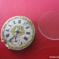 Relojes de bolsillo: MAQUINA DE RELOJ DE BOLSILLO ANTIGUA. Lote 195071123