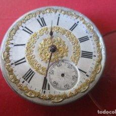Relojes de bolsillo: MAQUINA DE RELOJ DE BOLSILLO ANTIGUA. Lote 195072027
